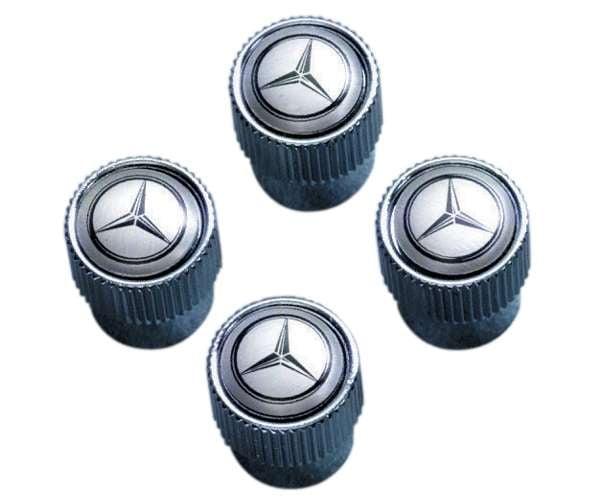 Mercedes benz star valve stem caps q6408128 genuine for Mercedes benz valve stem caps