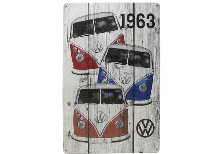 Volkswagen Bus Wooden Wall Sign, 12